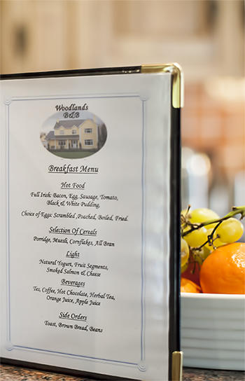 Breakfast Menu Galway Bed and Breakfast Oughterard Galway